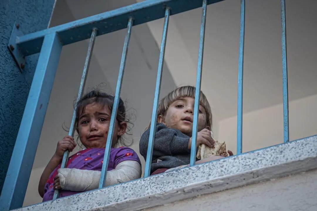 硝烟中的巴勒斯坦儿童,笑脸已不再